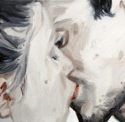 吻  4  kiss4  布面油画  20cmX20cm 2016