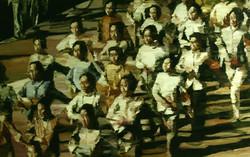 游行, 萧搏, 油画, 150cm x 95cm
