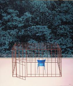 """第一把""""胶""""椅 布面油画,丙烯 210X180cm 2011"""