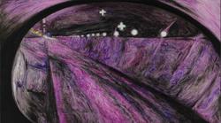 后视镜·隧道NO.13 布面油画 30.4x54cm.2011