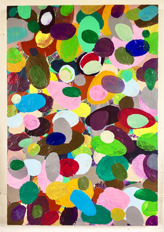 《绘画—鹅卵石18》83.5x122.5cm 2018年