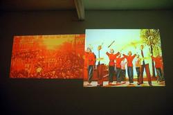 剧场, 汪建伟, 双屏投影录像, 2004
