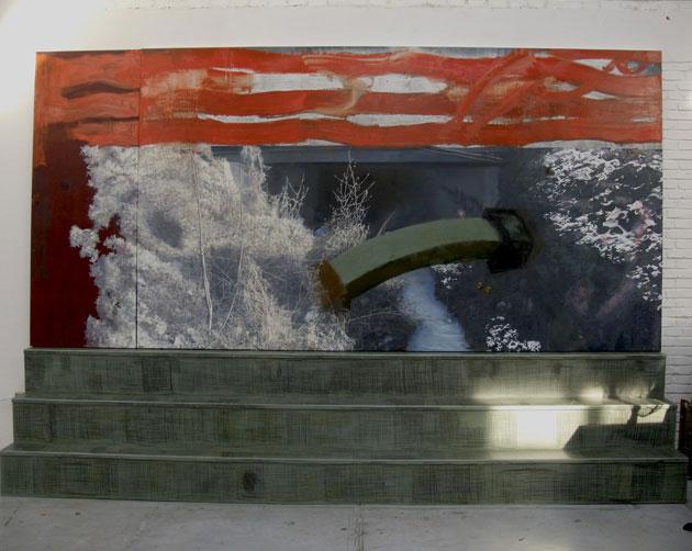 两个钉子, 李大方, 装置, 270 x 400 x 50cm