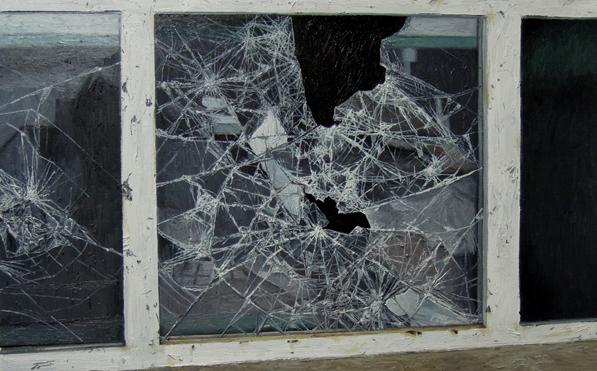 《perfect——残破NO.9》 布面油画 60x95cm 2012