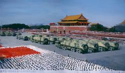 广场 北京 布面油画 500X300cm 2009