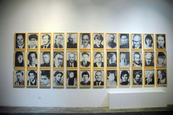 肖像, 王音, 喷绘水粉, 54 x 36cm, 2006