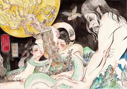 撒旦君 《恋根图》 水墨,水彩,国画颜料 26 x 36