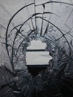 《perfect——残破No.11》 布面油画 60x45cm 2012
