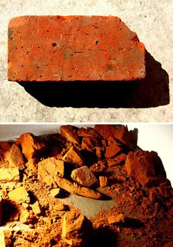 对疼痛的幻想, 王思顺, 装置, 板砖, 52 x 38cm, 2008