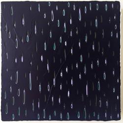 《绘画93—雨》布面丙烯,30x30cm 2018