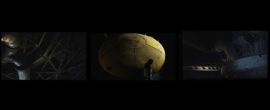 """""""零点""""(2010,片长9分50秒,高清,三屏录像装置)"""