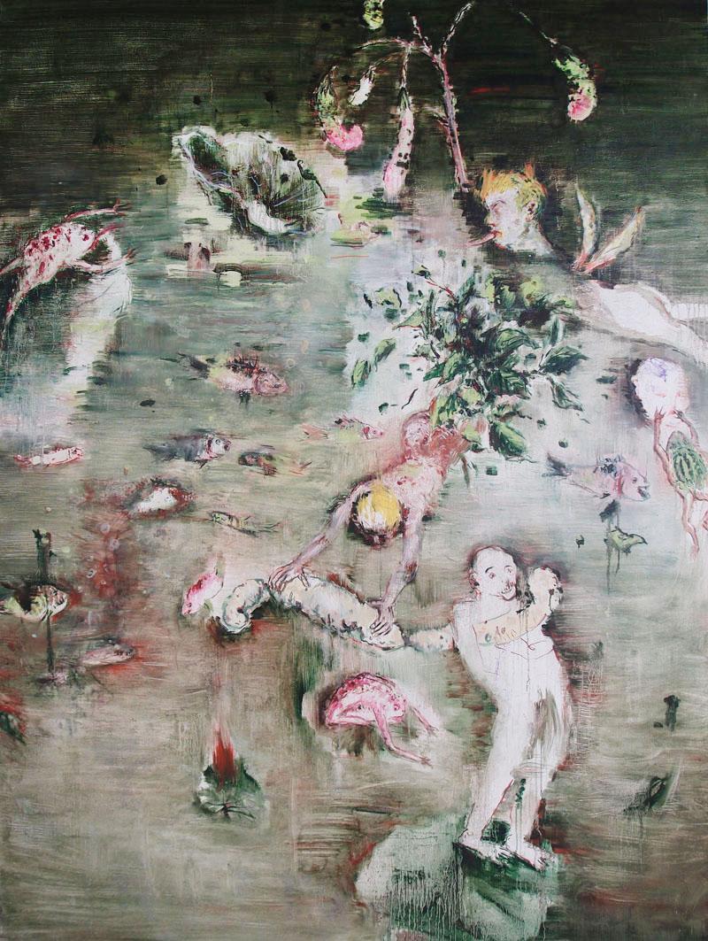 池NO1 200×150cm 布面油画 王荣植2012