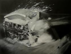 《打碎的平静——实验》 布面油画 150x200cm 2011