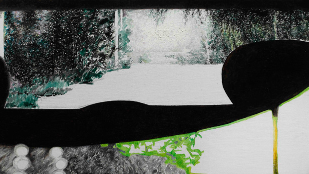 后视镜NO.13 布面油画 30.4x54cm.2011
