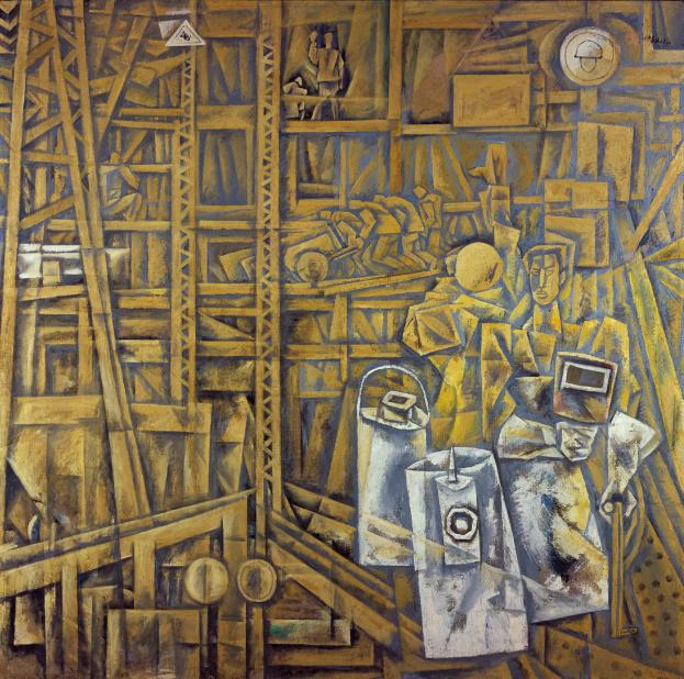 复件 复件 1984年《建设者》,192cmx192cm,布面油画,王易罡