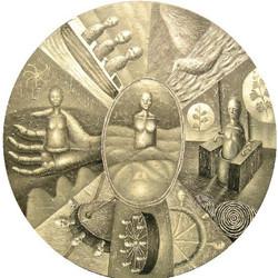 圆,布面丙烯,直径110CM_2010年