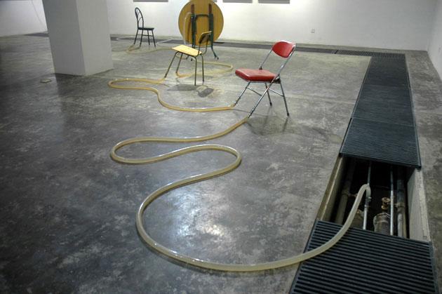 不知名的河, 刘窗, 装置, 尺寸不定, 2008