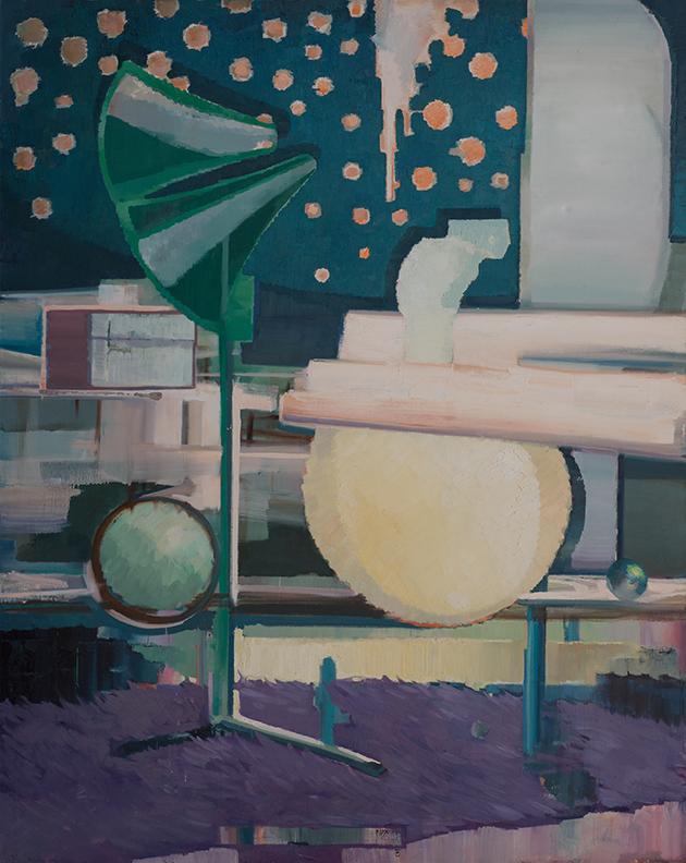 平衡木  布面油画 210x170cm 2011