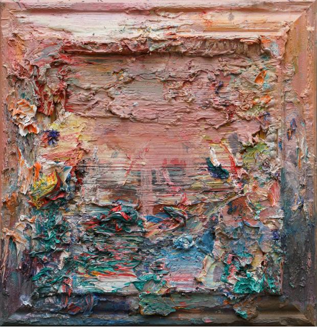王易罡《2015抽象作品-21号》60cmX60cm 布面油画