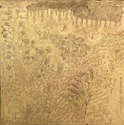 无量寿世界3 纯金箔上绘 13X13CM 2013