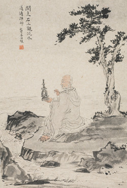 禅林宝相册 纸本水墨 22x34cm 6