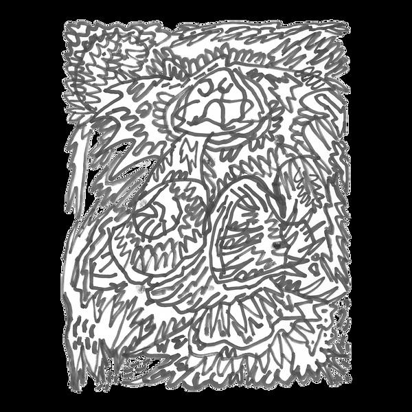 Maken X 10, Marker on paper card, Beijng, 2019