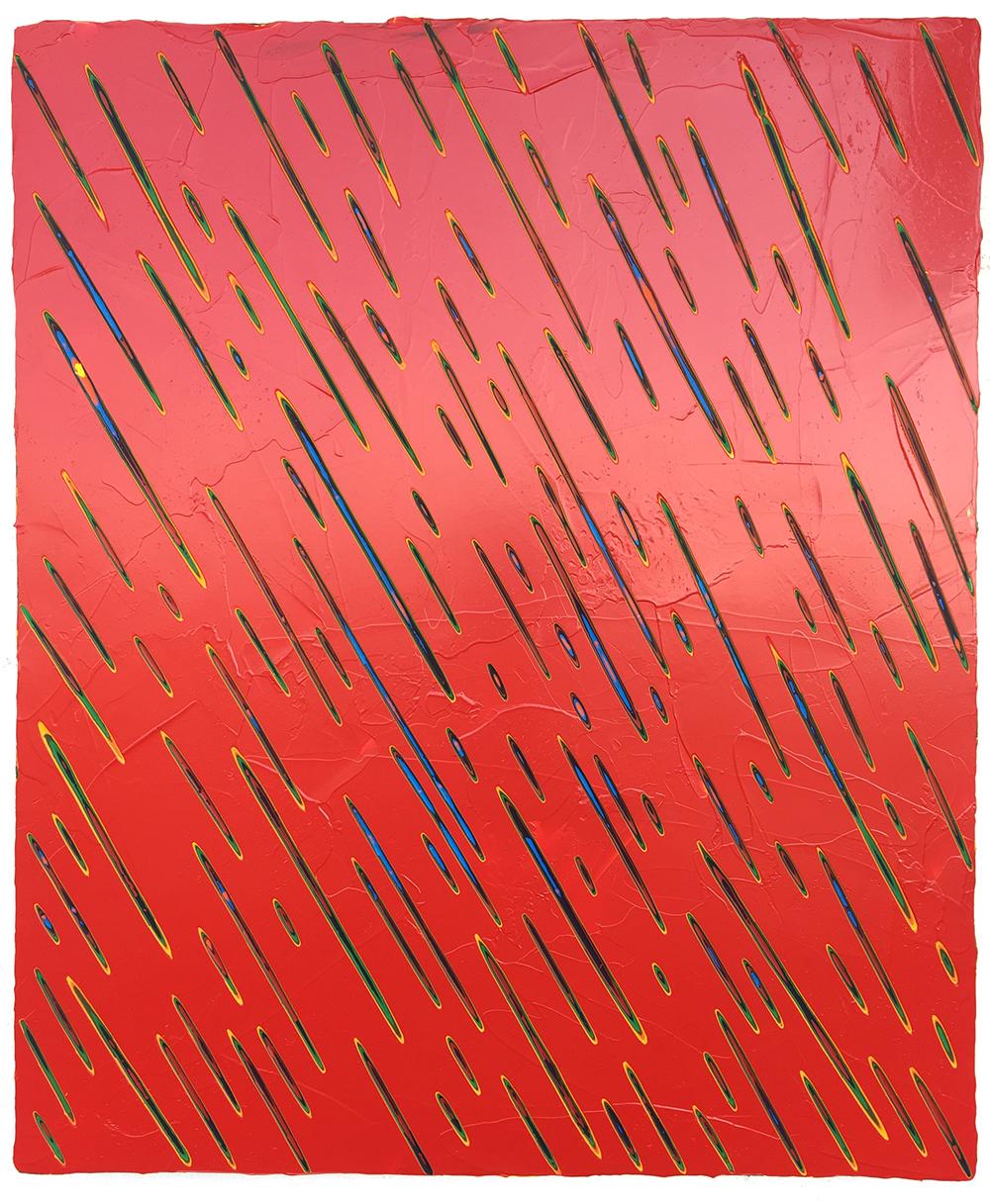 《绘画113—雨》50x60cm 木板丙烯2018