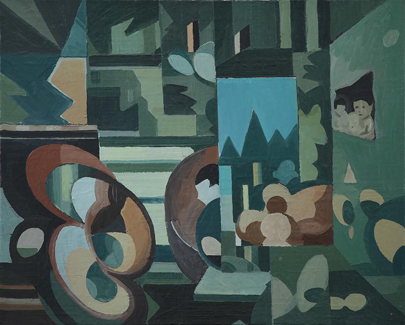 绿房间NO.1 布面油画 100x80cm 2016