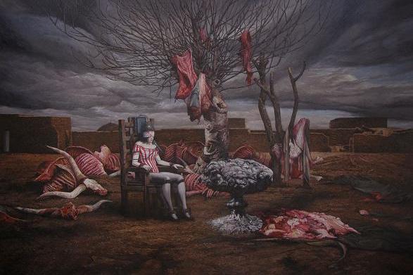 《荒梦狂想》系列NO.6 布面油画 210x320cm 2012