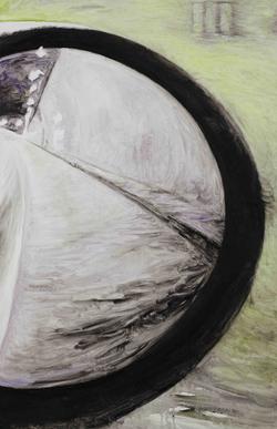 后视镜·隧道NO.10 布面油画 80x50cm.2011