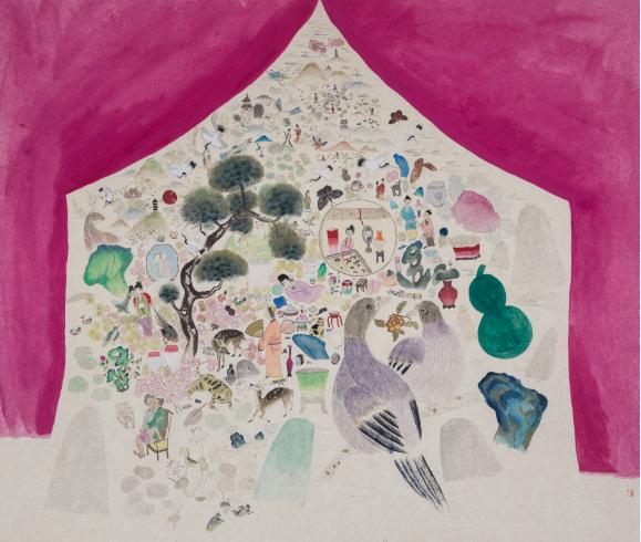 《赤瑶》纸本设色50x42cm 2016