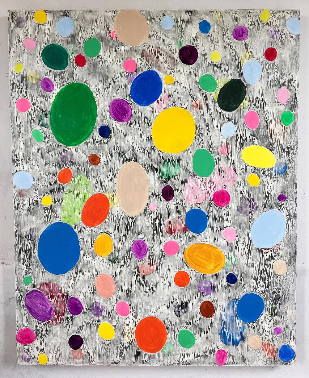 《绘画—鹅卵石4》150x120cm 2018年
