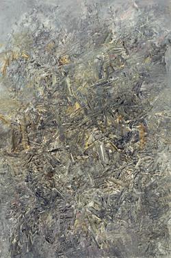 2008年《抽象作品2008'2号》,160cmx240cm,布面油画,王易罡.
