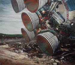 《荒梦狂想系列No.1》 布面油画 225x260cm 2012
