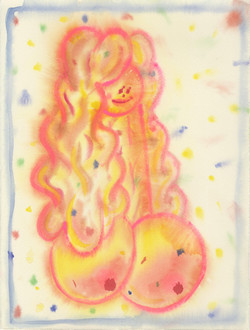 《美女》:纸本水彩水粉:380*285mm:2021的副本