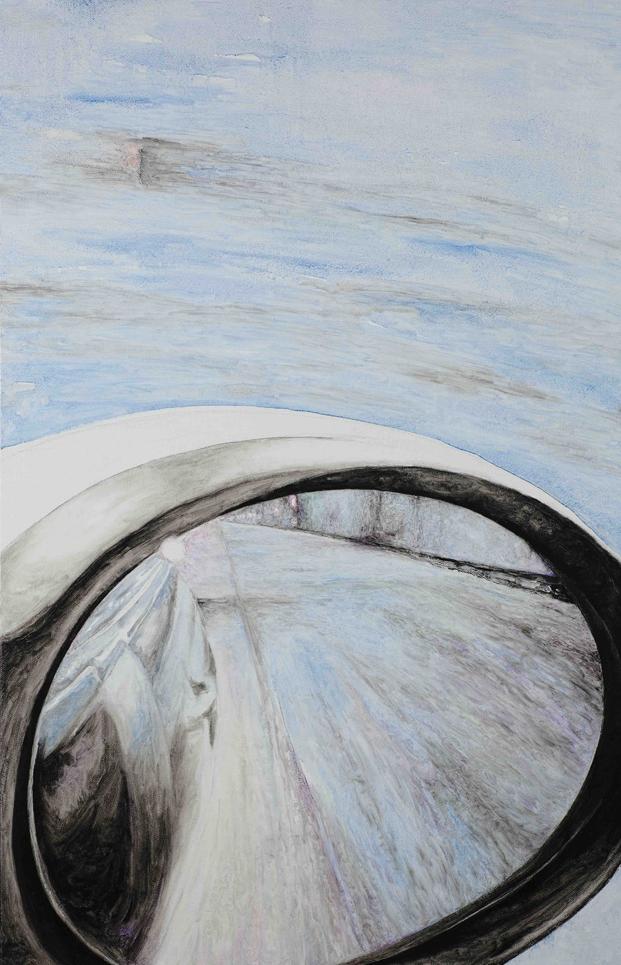 后视镜·隧道NO.7 布面油画 80x50cm.2011
