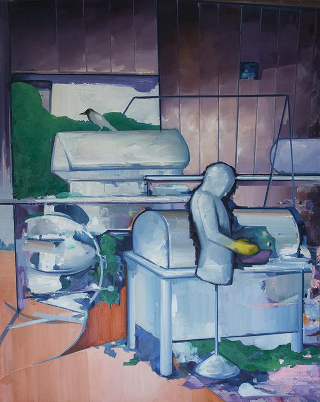 无关生活 布面油画 210x170cm 2013
