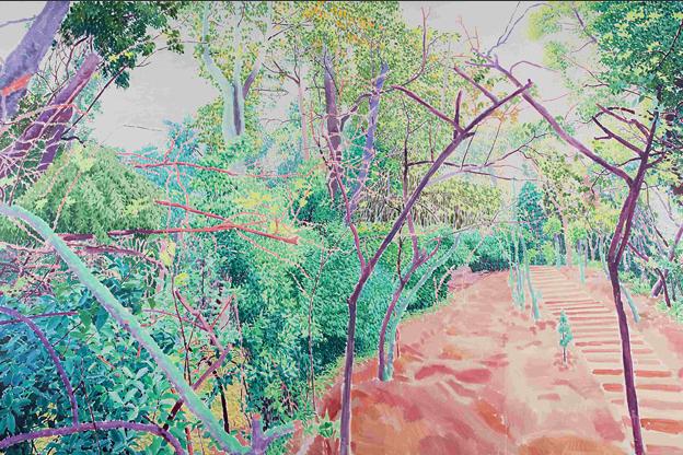 旅途的风景1 布面油画 200x300 2011
