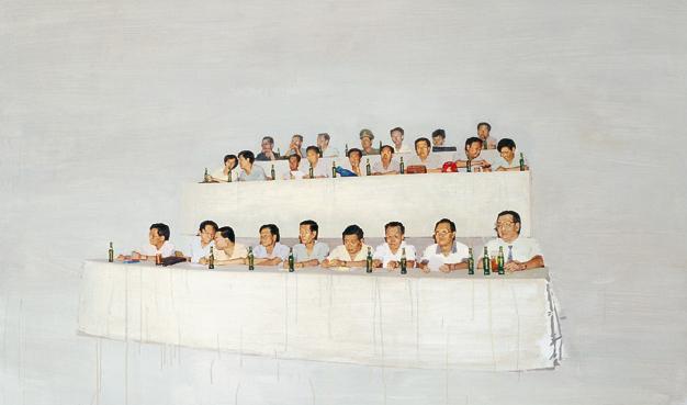 又开会了 布面油画 150x200cm 2011