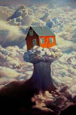 在云端  布面油画  182x122cm  2013