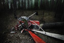 《陨落》 布面油画 160x240cm 2011