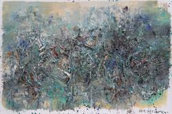 《青绿系列作品2012'10号》300cmx200cm,布面油彩,王易罡