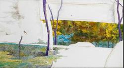 后视镜·窗外NO.1 布面油画 30.4x54cm.2008