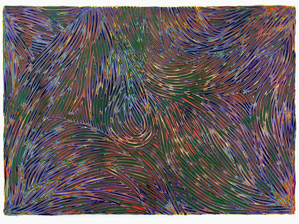《绘画112—星空》43x60cm 木板丙烯2018