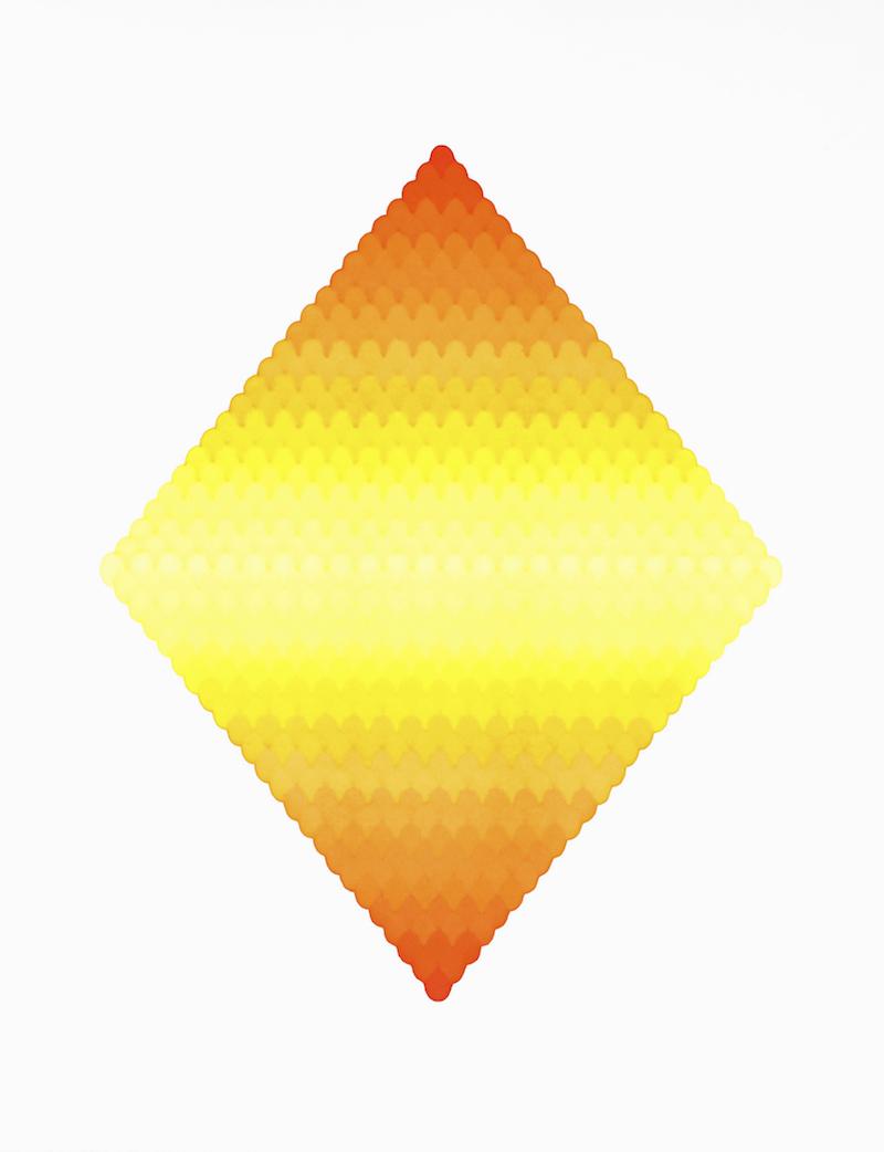 火山吻 S2,Volcano Kiss S2,纸上马克笔,Marker on P