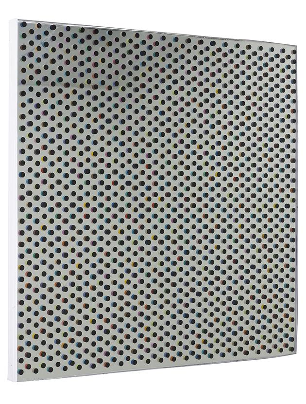 重影之一100x100cm 布面油画、树脂 2015