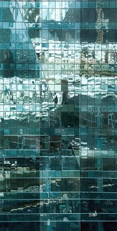大玻璃No.6 布面油画 250X130cm 2011