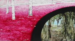后视镜NO.1 布面油画铅笔 30.4x54cm.2010