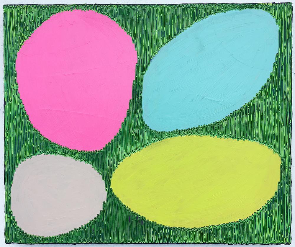 《绘画106—鹅卵石》木板丙烯50x60cm .JPG