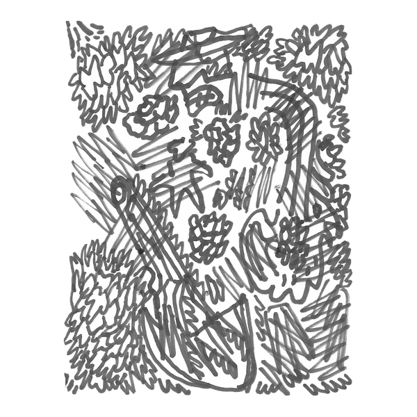 Maken X 1, Marker on paper card, Beijng, 2019